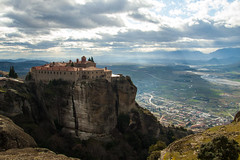 St. Stephen (Rui Nunеs) Tags: meteora monastery kalabaka greece iera moni agiou stefanou backlit light shafts trikala thessaly mountain monasteries