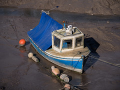 "Boat Needs a Wash (wi-fli) Tags: ""lowtide"" tide tidal muddy mud dirty blue avon trym abonae ""seamills"" nautical river boat bristol england unitedkingdom"