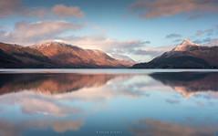 Loch Heaven (Sarah_Brooks) Tags: scotland lochleven highlands landscape waterscape clouds light mountains winter feb sunset reflections