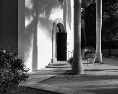 Church entrance (Tim Ravenscroft) Tags: church entrance door path bocagrande florida hasselblad hasselbladx1d x1d monochrome blackandwhite blackwhite