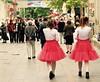 Twins for work (vittorio vida) Tags: twins street red skirt girls sarajevo bosnia balkans dress city