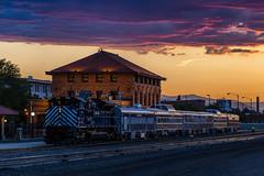 Silver Cloud Sunset (jameshouse473) Tags: northern pacific railway railroad mrl montana rail link sd70ace emd passenger train missoula
