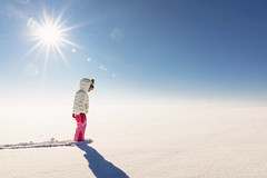 Cold and color (Elizabeth Sallee Bauer) Tags: nature bluesky bright child childhood children cold coldweather copyspace epic girl kid outdoorsport outdoors outside playing season snow sun white whitebackground winter