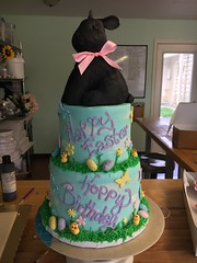bunny (backhomebakerytx) Tags: kids birthday cake bunny easter two tier rabbit backhomebakery