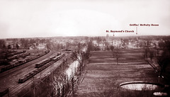 Present-day East Tremont Avenue, the fields later became Parkchester -- About 1905 (JFGryphon) Tags: easttremontavenue thebronx 1905 straymondschurch parkchester newyorkcatholicprotectory unionportroad largetank oldbwphoto