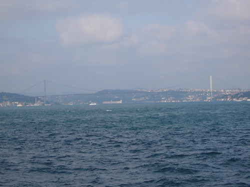 Istanbul, Bosphorus Bridge from Kadikoy ferry [12.06.2011]