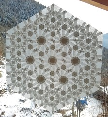 """""""4.6.12"""" (extended) (ale_beber_origami) Tags: origami tessellation paper folding pattern tiling paperfolding"""