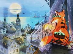 Romantic evening Evgenia Chistotina (DymphieH) Tags: postcards offer2018 fantasy blue moon