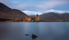 Sunlit (Fading Dusk Photography) Tags: uk scotland kyoshimasamune kilchurncastle sunset longexposure loch snow snowscape zomeind1000 zomei nd1000 nd8 cokinfilters cokinnd8 lochawe sigma1750mmf28 snowylandscape argyllbute argyllshire dalmally panorama goldenhour