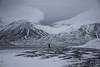 Morning stroll (EllieRoseWard) Tags: light walk mountains blackwhite blackandwhite people clouds arctic svalbard
