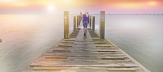 The Adventure.. De espaldas  52 Anónimos (4/52) (KissThePixel) Tags: horizon shoreline shore pier longpier woodenpier sunrise sunrises her me creativeart creativephotography sky sea ocean thamesestuary thames essex estuary water adventure forever seascape landscape skyscape nikon perspective deespaldas 52anonimos