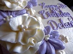 Birthday cake! 14/365 (delaneybrown) Tags: icing dessert sweet frosting white purple birthday cake