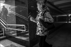 DRD160502_0471 (dmitryzhkov) Tags: russia moscow documentary street life human monochrome reportage social public urban city photojournalism streetphotography people bw night lowlight nightphotography dmitryryzhkov blackandwhite everyday candid stranger corner angle glasses spectacles walk pedestrian walker outdoor passerby reflection glass underground