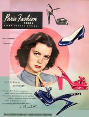 Vintage Ad (1951) (BudCat14/Ross) Tags: vintageads faithdomergue 1951 1950s movies shoes