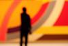 Ponder (Thomas Hawk) Tags: california sfmoma soma sanfrancisco sanfranciscomuseumofmodernart usa unitedstates unitedstatesofamerica painting silhouette fav10 fav25