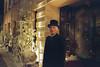 Doorman – Fuji Superia 800 (magnus.joensson) Tags: sweden swedish närke örebro contax aria zeiss distagon 28mm cy fuji superia 800 c41 exp handheld dark november city
