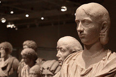 Bored Bust (peterkelly) Tags: digital canon 6d toronto ontario canada northamerica rom royalontariomuseum bust woman marble roman carving statue