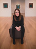 Art (Vincent F Tsai) Tags: portrait model fashion art museum girl seated framing black red ginger beauty beautiful leicadgsummilux25mmf14 panasonic lumixgx8