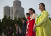 North Korean young adults during a mass dance performance in front of buildings on military foundation day, Pyongan Province, Pyongyang, North Korea (Eric Lafforgue) Tags: architecture asia buildings capitalcities celebration ceremony chosonot citylife communism dance dancers dancing dictatorship dprk entertainment festival groupofpeople hanbok horizontal joseonoth koreanculture largegroupofpeople lookingatcamera massball massdance militaryfoundationday nkorea4237 northkorea northkorean outdoors patriotism pyongyang shy students togetherness traditionalclothing urbanscene waistup pyonganprovince 北朝鮮 북한 朝鮮民主主義人民共和国 조선 coreadelnorte coréedunord coréiadonorte coreiadonorte 조선민주주의인민공화국 เกาหลีเหนือ קוריאההצפונית koreapółnocna koreautara kuzeykore nordkorea північнакорея севернакореја севернакорея severníkorea βόρειακορέα