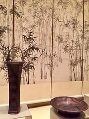1-9 Bamboo Art at The Met (MsSusanB) Tags: bud vase tanabechikuunsai scrolls basket bamboo metropolitan museumofart metmuseum japan sculpture