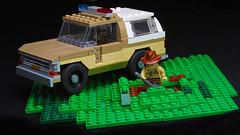 Lego Stranger Things - Chief Hopper's car (hachiroku24) Tags: lego stranger things chief hopper chevrolet blazermoc afol instructions moc