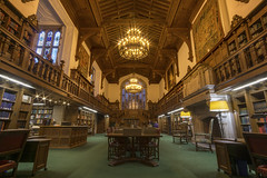 The Reading Room at Folger Shakespeare Libaray (johngoucher) Tags: approved architecture building readingroom room ceiling chandeliers tudor shakespeare library literature folgershakespearelibrary washingtondc dc wideanglelens rokinon 12mm