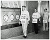39 minutes into phone strike: 1957 (Washington Area Spark) Tags: western electric communications workers america installers distributors operators telephone chesapeake potomac company 1957 washington dc strike walkout picket line job action work stoppage cwa cp att ma bell system honor refuse cross roving sign
