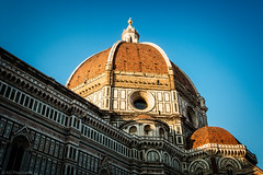 Iconic (The Frustrated Photog (Anthony) ADPphotography) Tags: architecture category florence italy places santamariedelfioreilduomo sunset travel church cathedral placeofworship travelphotography architecturephotography canon outdoor european firenze canon1585mm canon70d sky bluesky goldenhour dome domedroof