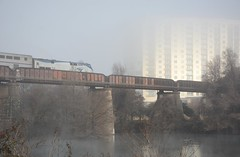 Austin: Colorado River Bridge (zug55) Tags: austin texas ladybirdlake lake coloradoriver townlake amtrak train rail railroad railway fog bridge railraodbridge coloradoriverbridge unionpacificrailroad missouripacificrailroad river mopac missouripacificrailroadbridge townlakebridge ladybirdlakebridge mist
