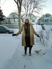 Should I Let This Stop Me? Of Course Not! (Laurette Victoria) Tags: snow winter coat milwaukee laurette boots gloves silver scarf