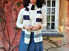 sciarpa bianca a righe con motivo traforato (stranelane1) Tags: scarf sciarpa wool lana knitting maglia tricot knitted knit striped righe