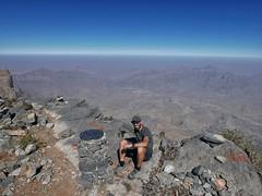 Jebel Shams summit at 3000m.