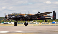 Lancaster (Bernie Condon) Tags: fbo farnborough airshow display flying aircraft aviation avro lancaster raf bomber bbmf memorialflight pa474 military warplane classic preserved vintage memorial plane ww2 royalairforce british uk