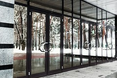 doors to the forest (DENIS-KA) Tags: canon eos 6d ef ef40stm 40mm kyiv doors reflection park snow winter