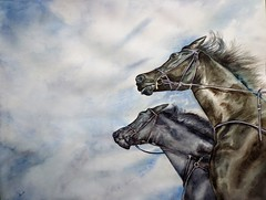 Al galope (benilder) Tags: caballos algalope acuarela horses cheval pferd aquarelle watercolor watercolour benilde
