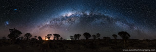 Panoramic Milky Way @ Quiver Tree Forest, Namibia