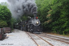 Smoking it up through Lafayette, GA (Joseph S. Randall) Tags: tennesseevalleyrailroadmuseum tvrm summervillesteamspecial southernrailway southern630 southern4501 lafayettega georgia