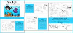 Sea Life for Early Learners (CHSH-Teach) Tags: oceanlife preschool prek kindergarten tracing cuting letters worksheets sciencechsh christianhomeschoolhub chshteach