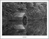 Loch Ard Boathouse (flatfoot471) Tags: 2011 autumn blackwhite boats jetty landscape lochard mist rural scotland september stirlingshire trossachs unitedkingdom aberfole gbr