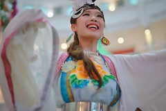 The color of Leica 1D (Xiaole wy & JV William) Tags: canon eos 1d mark iii sigma 50mm f14 hsm color portrait photography street art performance traditional cultural celebration chinese new year 2018 festival south east asia berautiful girl dancer costume smooth silky bokeh back light public people