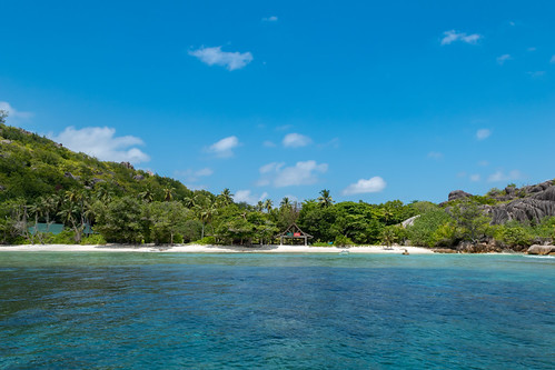 Strand auf der Insel Grande Soeur, Seychellen