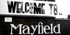 Welcome to Mayfield (North Ports) Tags: mayfield train station manchester piccadilly disused platforms redevelopment jonathan schofield tours ui mayfieldmcr mcr 1910 abandoned city centre buffers graffiti reflection concourse rail network british steam locomotive parcel depot internal external heritage history architecture black white bw