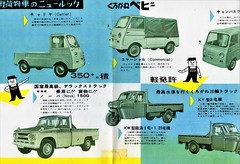 1961 Kurogane Trucks (aldenjewell) Tags: kurogane carrier commercial nova 1500 kw ky canvas wagon truck pickup brochure 1961