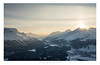 Sunset over Engadin, Switzerland (Nils Leonhardt) Tags: landschaft landscape berg mountain schnee snow himmel sky sunset dawn sonnenuntergang switzerland schweiz engadin graubünden nikon nikond810 sigma sigmaart sigmalens sigma35mm winter sunlight alps alpen gebirge thetiredsunsetsandthetiredpeopleittakesalifetimetodieandnotimeatall — charles bukowski light