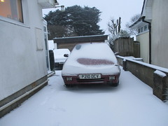 Today's Snow #1 (occama) Tags: snow cornwall cars home house drive citroen zx 1998 p210ocv