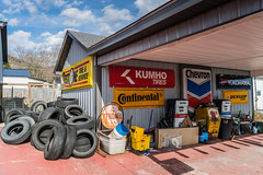 Tire Shop (sniggie) Tags: arco chevron continental dunloptires irvine kendall kentucky kumhotires yokohama signage signs tires estillcounty bestonetireservice sign