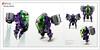 Raptor series: Skycam Spycam (Brixnspace) Tags: raptor walker frame powersuit suit lego moc toy biped purple jet jetpack flysuit spycam skycam