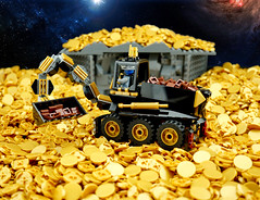 The Dirt Miners of Aurumia (TFDesigns!) Tags: lego space rover mining febrovery frost gold