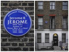 Plaque: 32 Tavistock Street, London (FotoFling Scotland) Tags: 32tavistockstreet london author jeromekjerome plaque