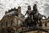 Louvre (II) (damar47) Tags: parigi paris french louvre monument building historical architettura architecture statue knight pentax pentaxart pentaxk30 pentaxian sky darksky cielo cloudporn clouds nuvole francia france